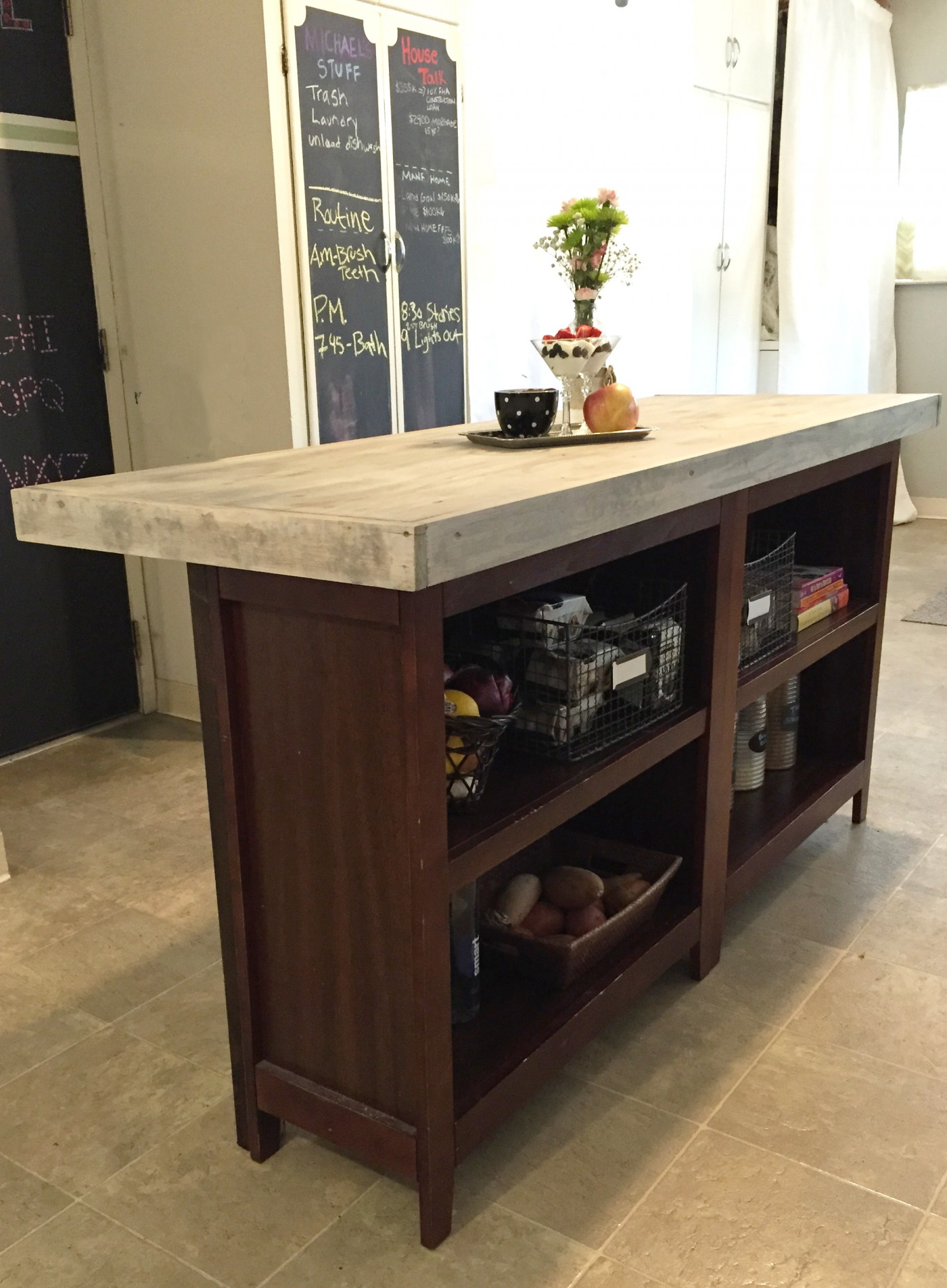 Home Made Kitchen Island Diy Kitchen Island From Bookcases | Jlm Designs