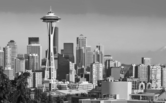SeattleSkylineBW