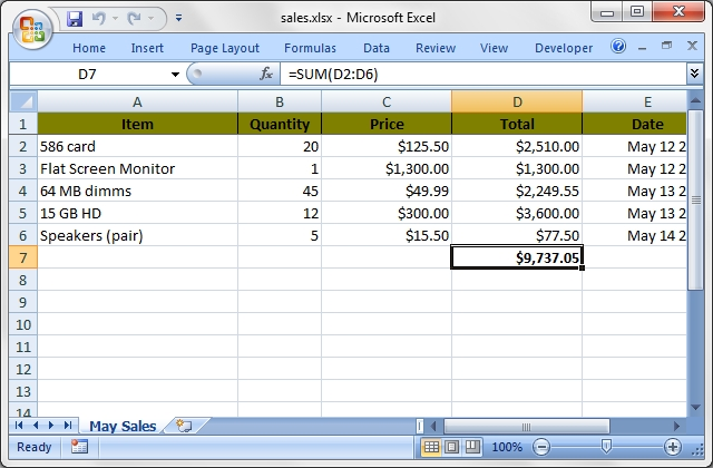 WriteXLS\/Examplespm at master · marcschwartz\/WriteXLS · GitHub - sample sales sheet