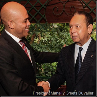 Martelly and Duvalier