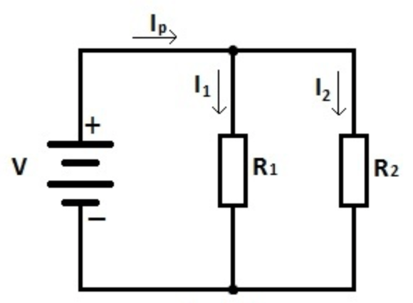 flow of electrons in a circuit