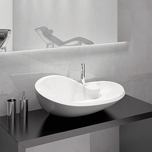 Lavabi Bagno Da Appoggio | Lavabo In Ceramica Rettangolare ...