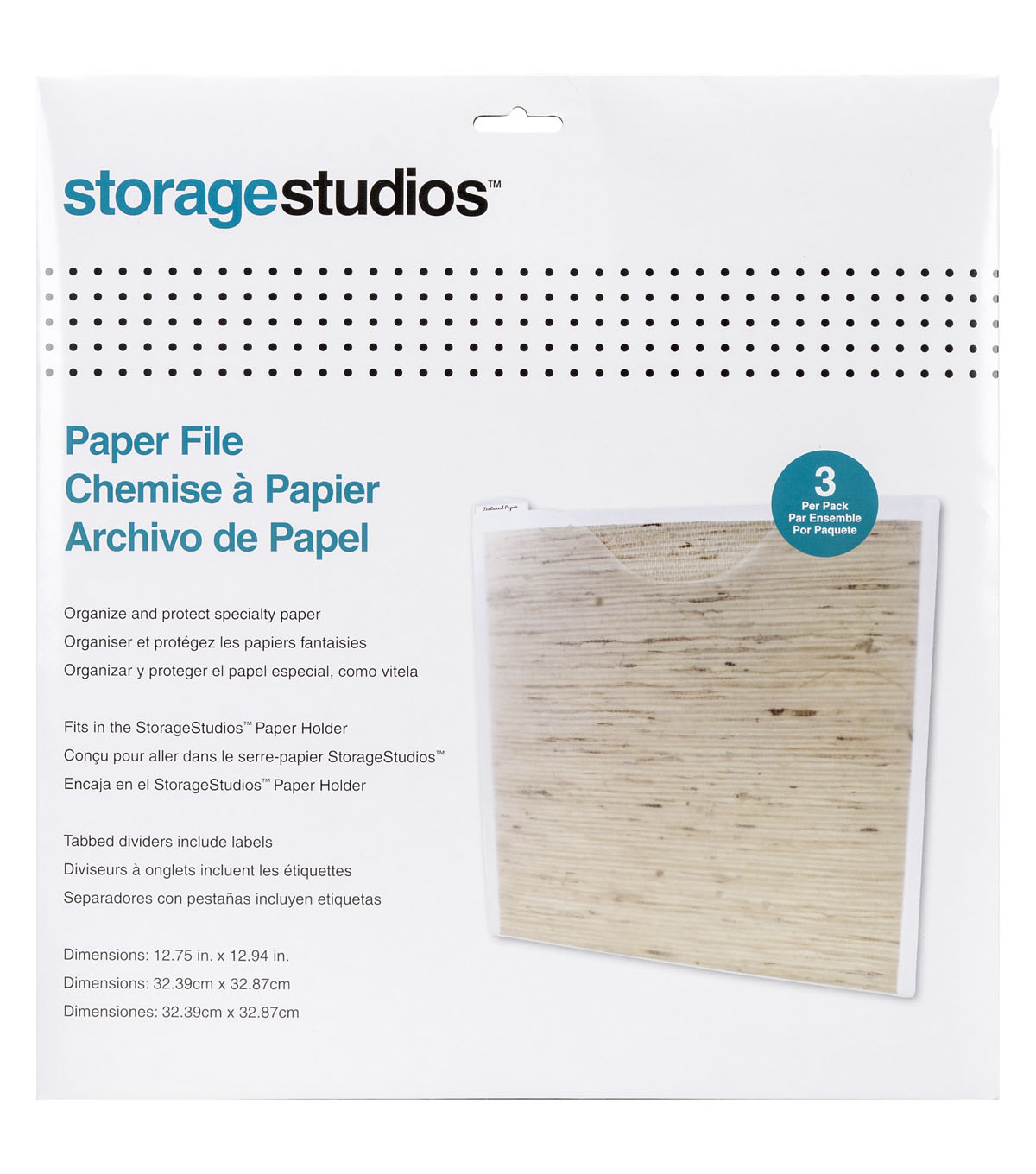 Handson Kweekkas Serre Storage Studios 3 Pk Paper Files With Tabbed Dividers Labels