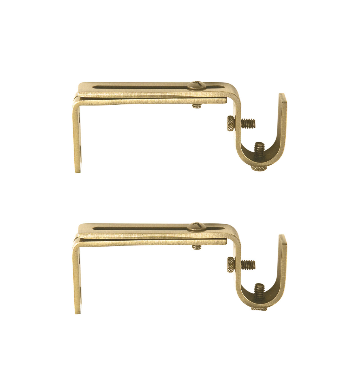 Adjustable Curtain Rods Kenney Adjustable Curtain Rod Mounting Brackets Gold