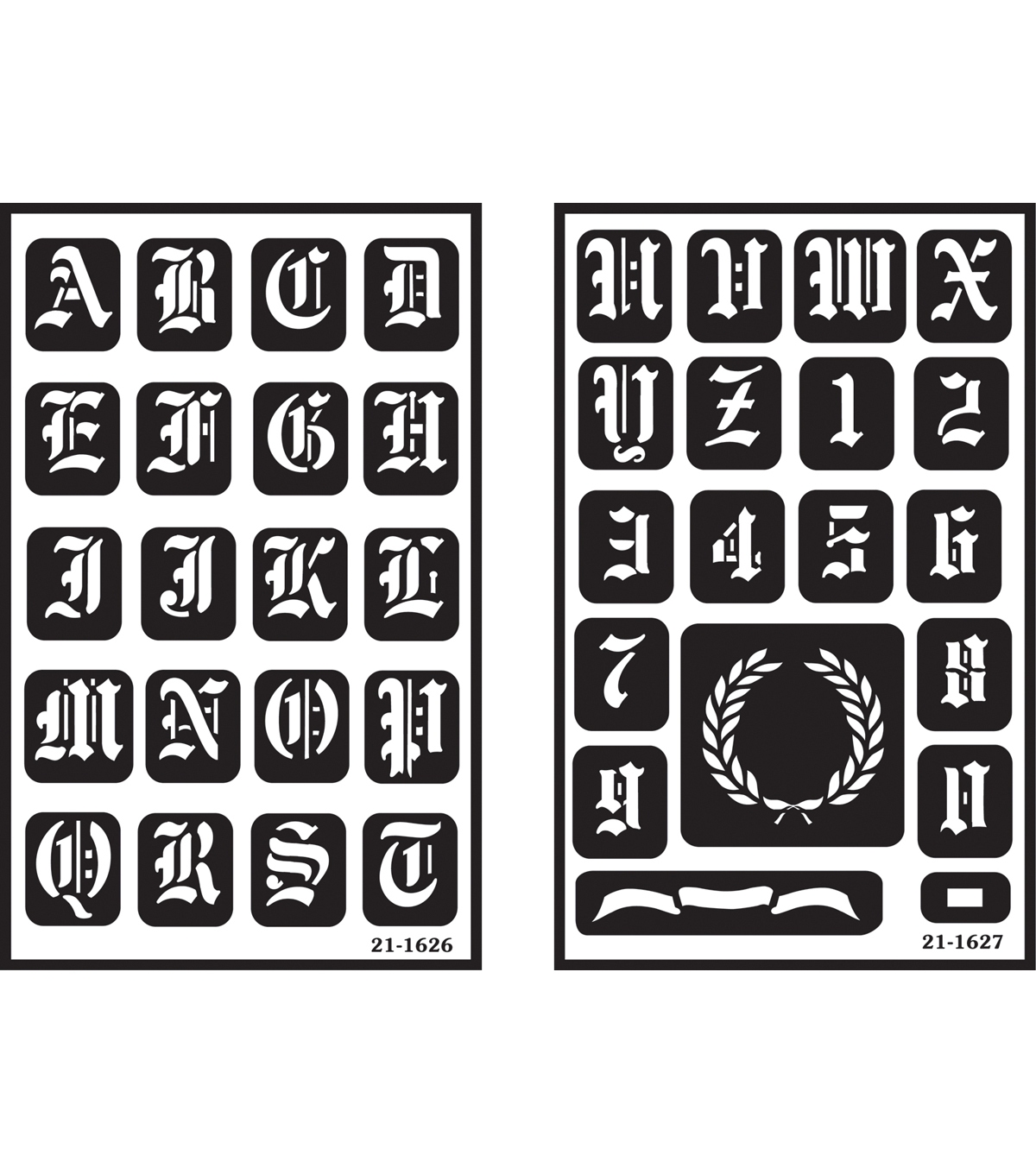 Are Old English Armour Products Over N Over Reusable Stencil Old English Alphabet