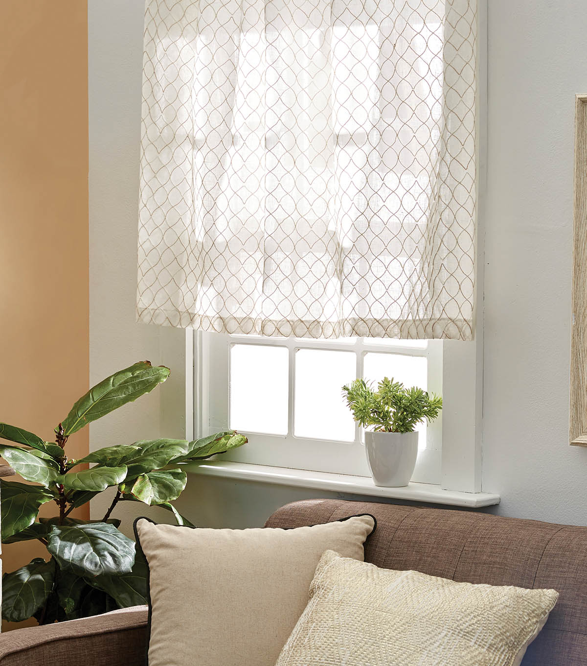 Make Curtains How To Make Sheer Café Curtains Joann