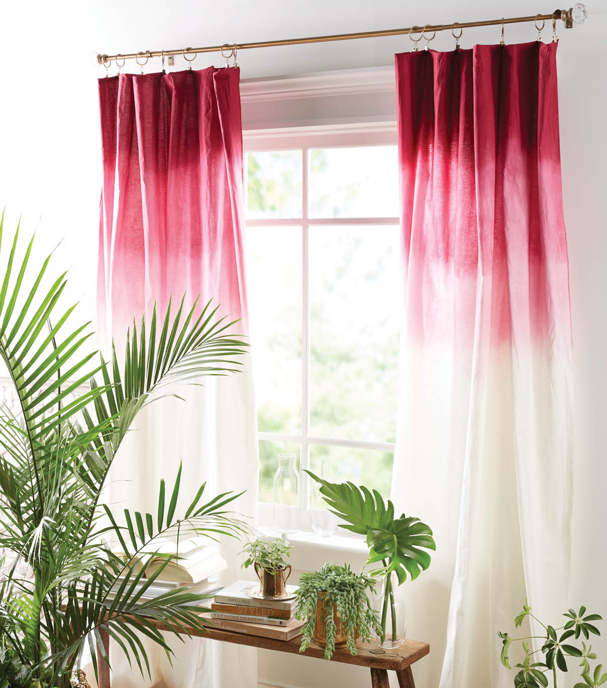 Make Curtains How To Make Ombre Curtains Diy Ombre Curtains Joann