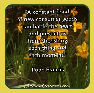 a constant flood of consumer goods can baffle the heart st fraoncis