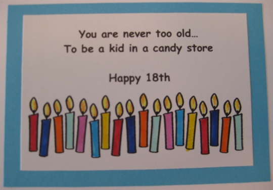 started with some candle stamps from the Stamps of Life, and colored ...