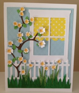 easter dogwood card