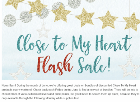 2016 CTMH Flash Sale