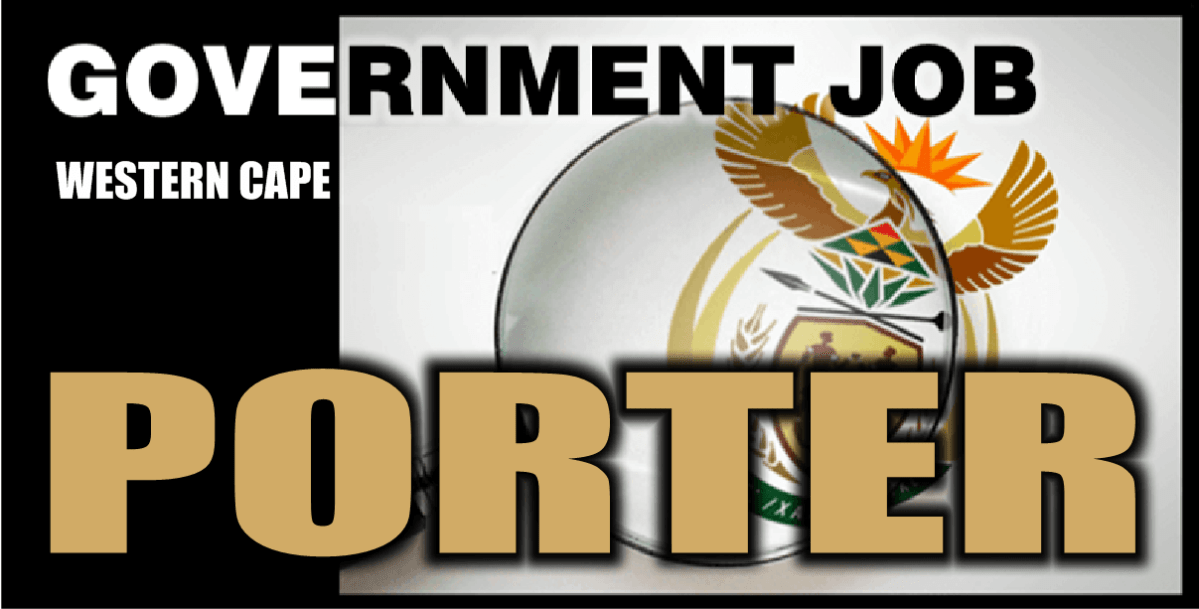 GOVERNMENT POST: PORTER (KARL BREMER HOSPITAL) CAPE TOWN