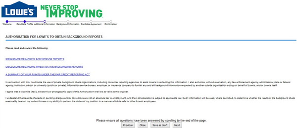 Lowes Job Application Form Online | Sponsor Letter Australian Visa