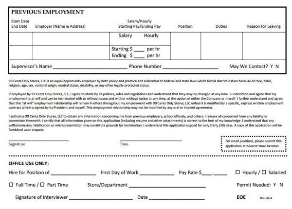 Practice Job Application Printable Blank Employment Application - blank employment application