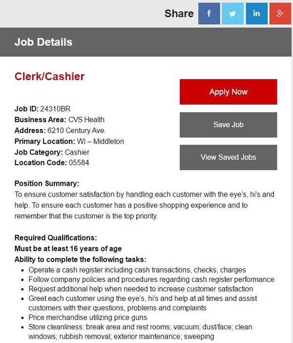 apply for cvs job