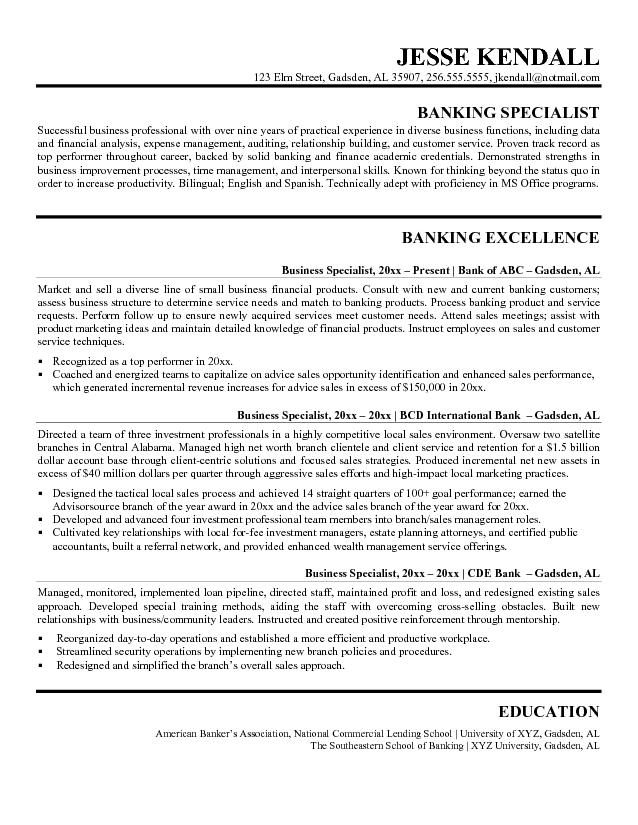 bank resume template resume format download pdf