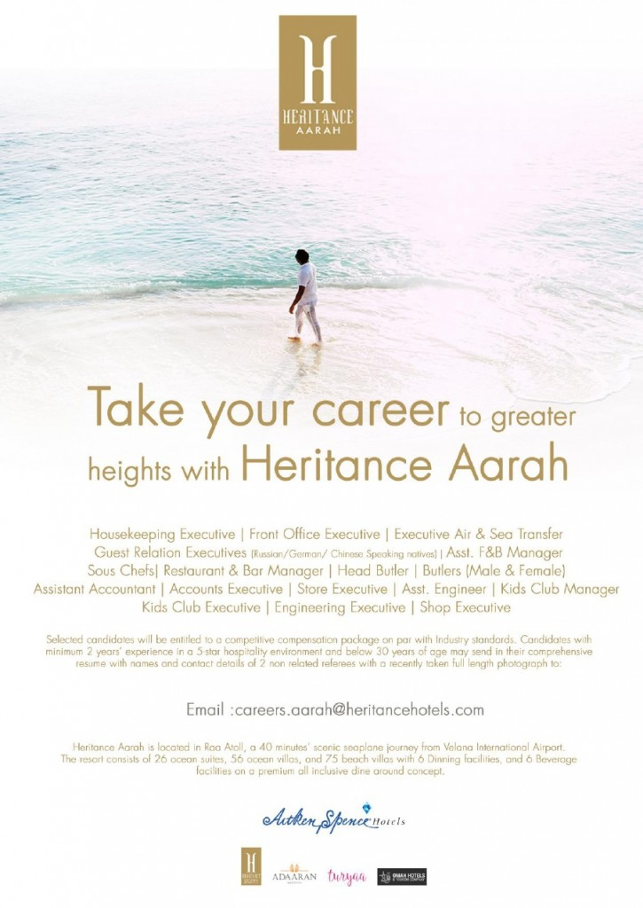 Assistant Engineer Jobs in Raa Atoll, Maldives at Heritance Aarah