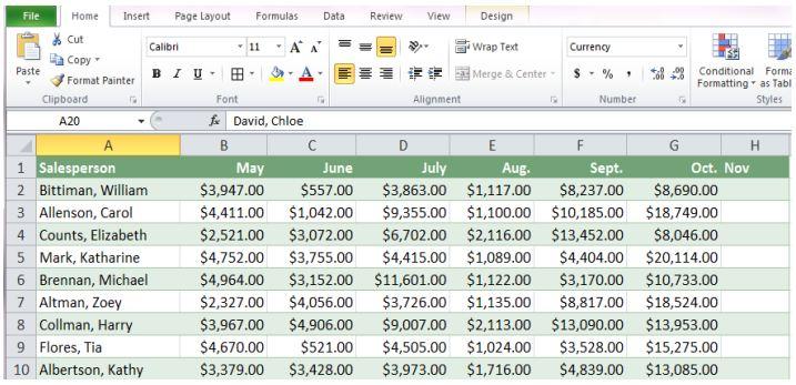 Beginners Excel Practice Exercises JobMap