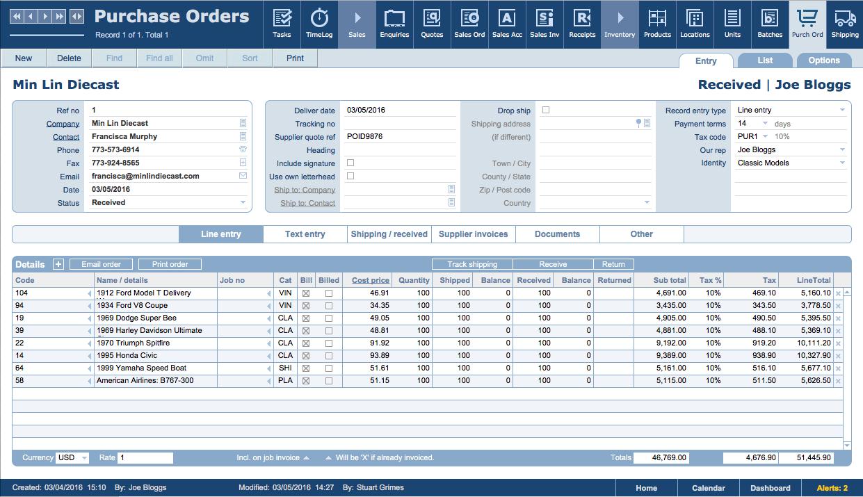 invoice inventory