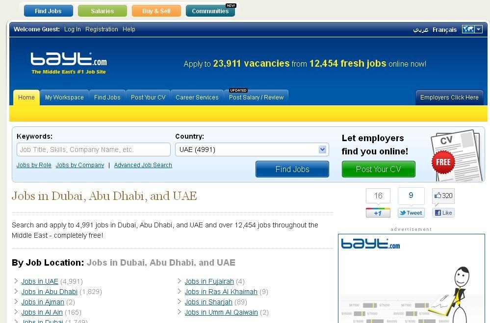 Top Job Sites in Dubai