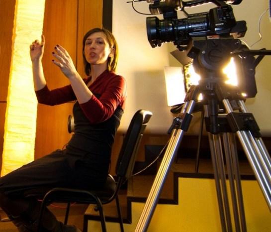 Дени Симеонова по време на интервютата за JobTiger.tv