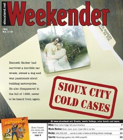 The Weekender cover featuring Kenneth Harker's unsolved disappearance.