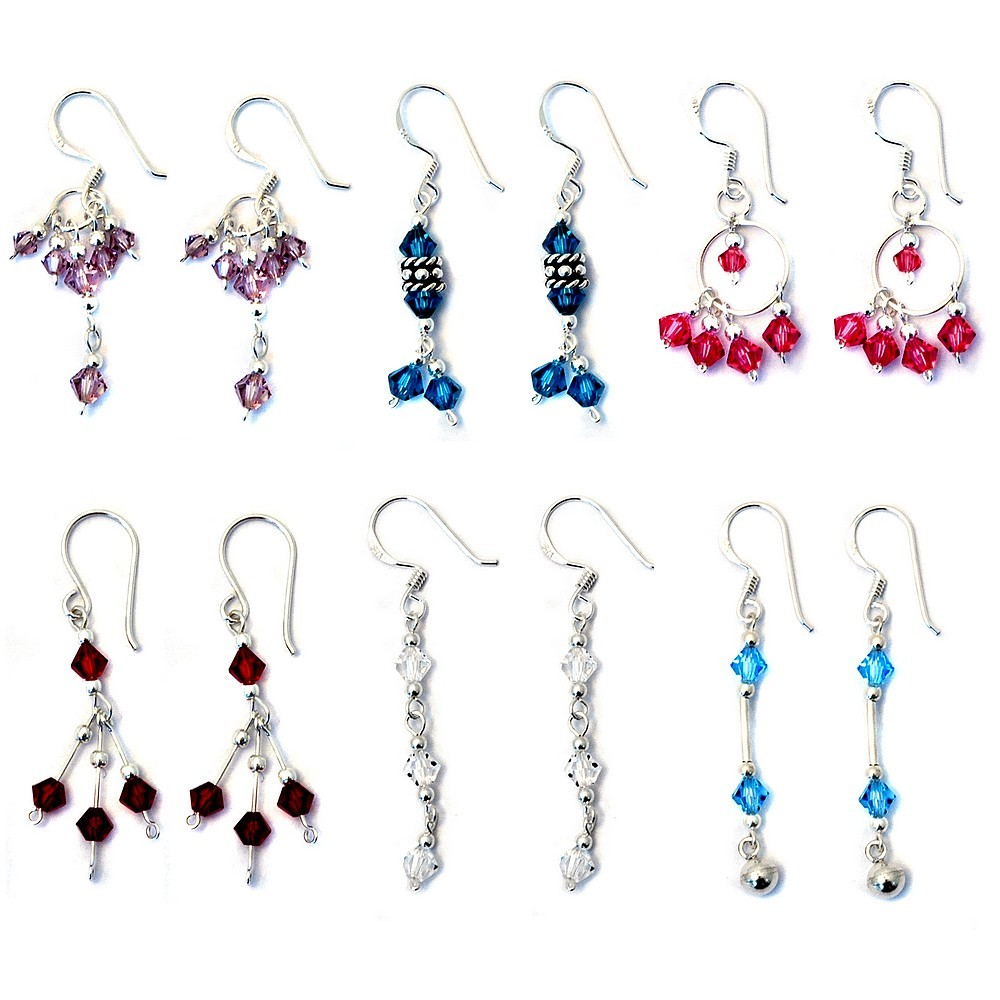 Wholesale Jewelry Bali Wholesale Shop For Drop Earring Crystal Bali Bead Made With 925 Silver Joe Cool