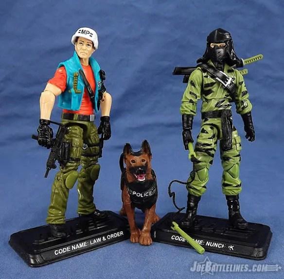 G.I. Joe FSS 4 Law & Order and Nunchuk