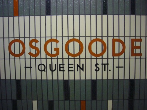 Vertical Subway Tile Inscribed In The Living Tile: Type In The Toronto Subway