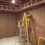 We ran the insulation for the headers inside the framing to save time.