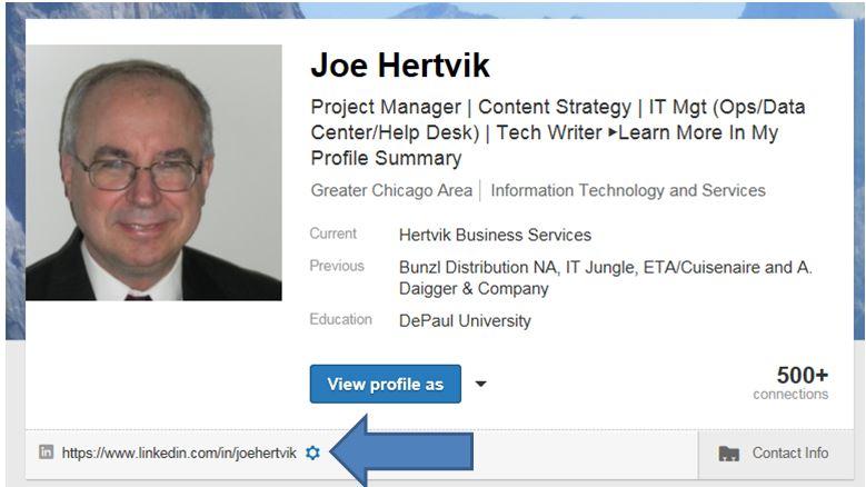 Creating a LinkedIn Profile URL That Fits on a Business CardJoe - get resume from linkedin
