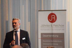 Rechtsanwalt Jöhnke referiert zum Thema Berufsunfähigkeitsversicherung