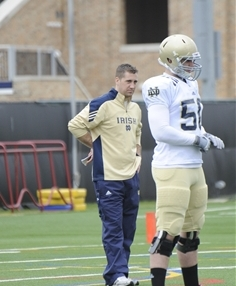 Reardon had a variety of duties with the Irish as a graduate assistant from 2012-13.
