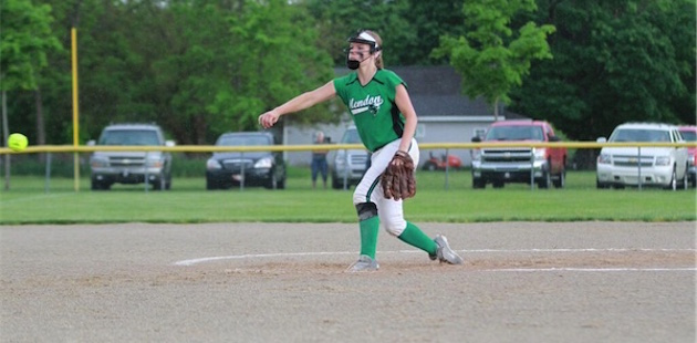 Mendon softball cruises to district-opening victory vs. Centreville