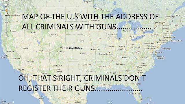 Criminal gun owners map