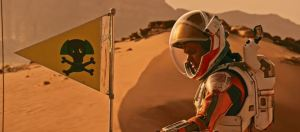 Radiation Biohazard Flag from the Martian 2015 with Matt Damon