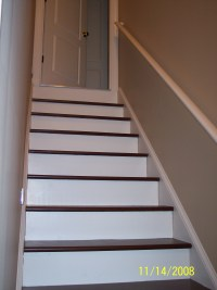 Painted Basement Stairs | myideasbedroom.com