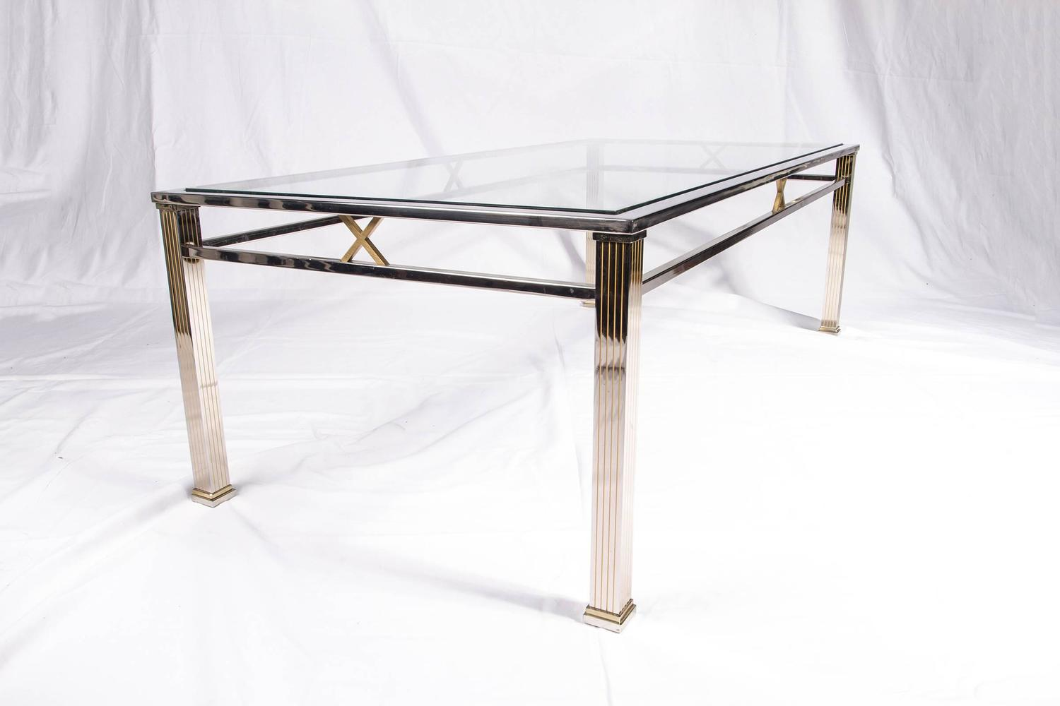 Chrome Coffee Table Chrome And Glass Coffee Table Joevin Ortjens Galerie
