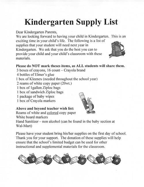 Shady Ass School Supply Lists joeyfullystated