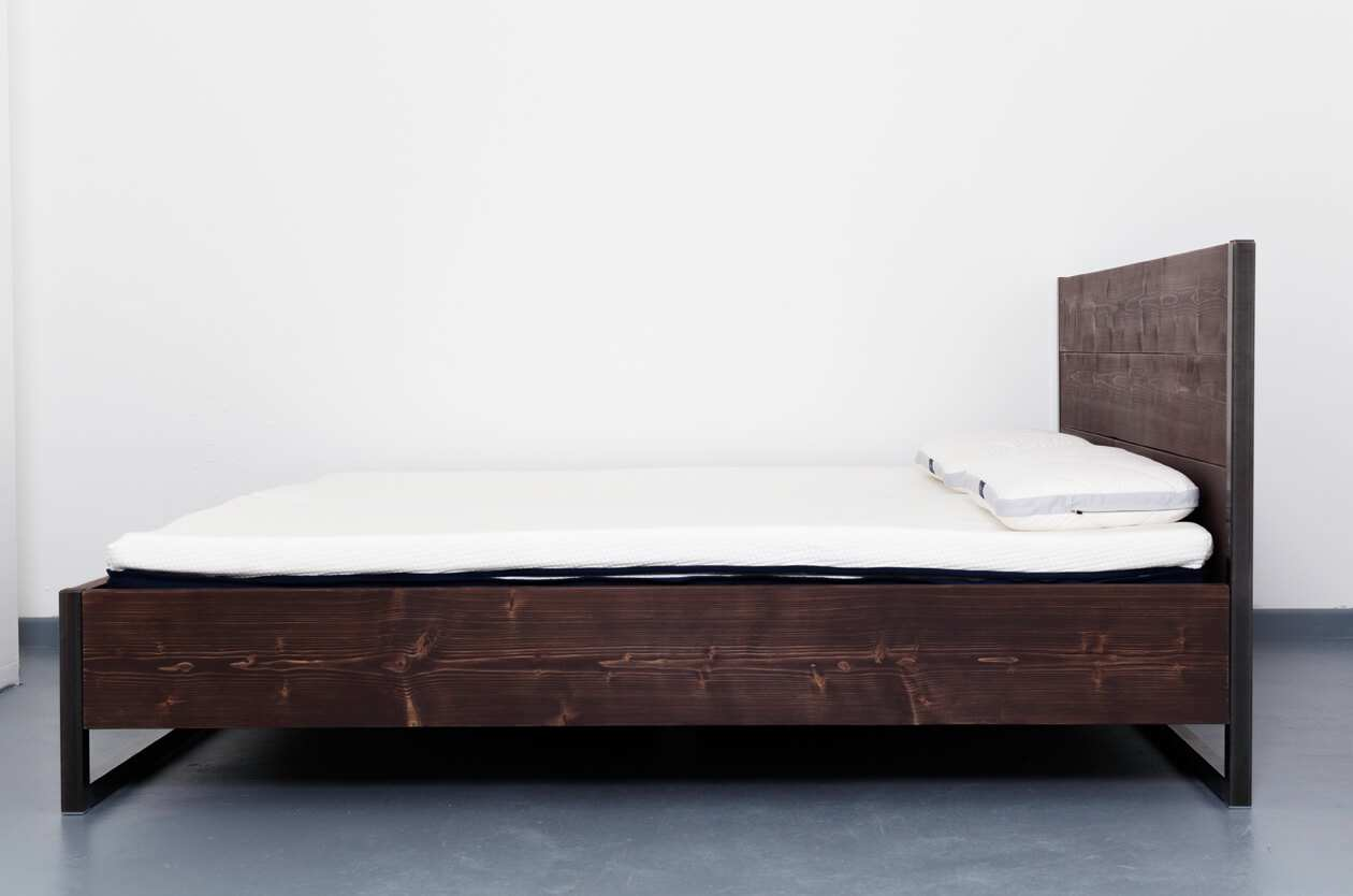 Industrial Bett Johanenlies Rustrel Bed Smoked Oak 3