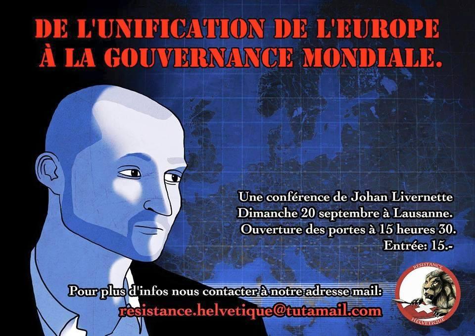 Conférence de Johan Livernette à Lausanne le dimanche 20