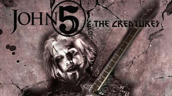 John 5 and The Creatures tour poster 2016