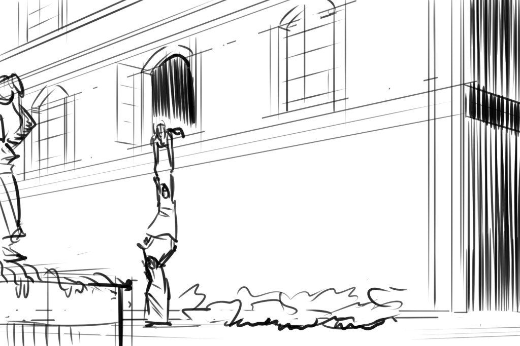 Archer storyboard test (from script) The Art of John Bivens - script storyboard