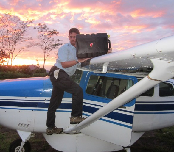 Daybreak refuel of P2-TMK by our pilot, Matt Allen