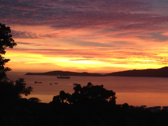 Sunset at Port Moresby Copyright JMAllenSr 2013