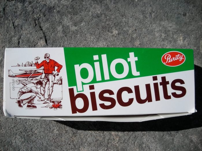Pilot Biscuits - they are made in Newfoundland and require no special packaging as they are virtually unbreakable!