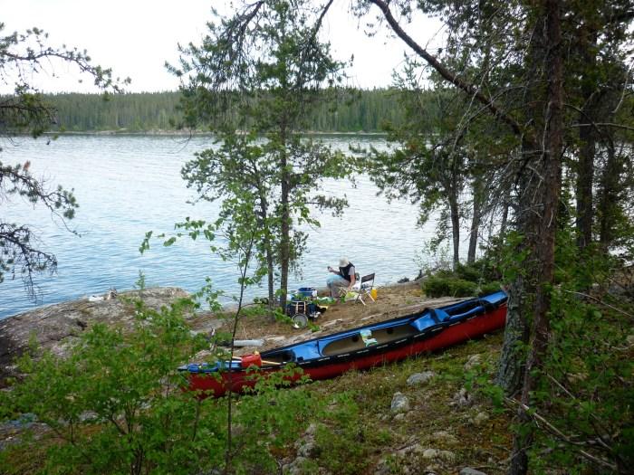 Island campsite, Reindeer Lake