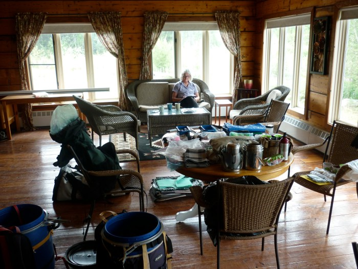 Sorting gear ready for next year, Water Front Lodge