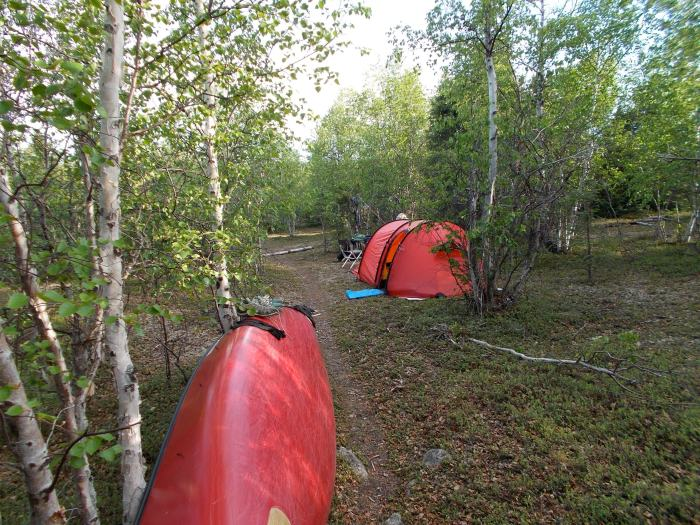 Our camp a few hundred meters along the portage