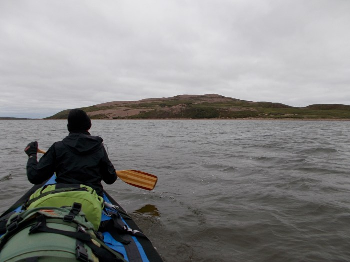 It was a cold paddle down Grant Lake towards the large and extensive esker system at Canoe Point